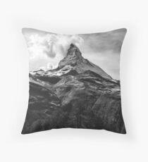 Black & White Mountains Throw Pillow