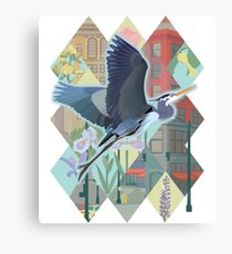 Great Blue Heron in Seattle Canvas Print