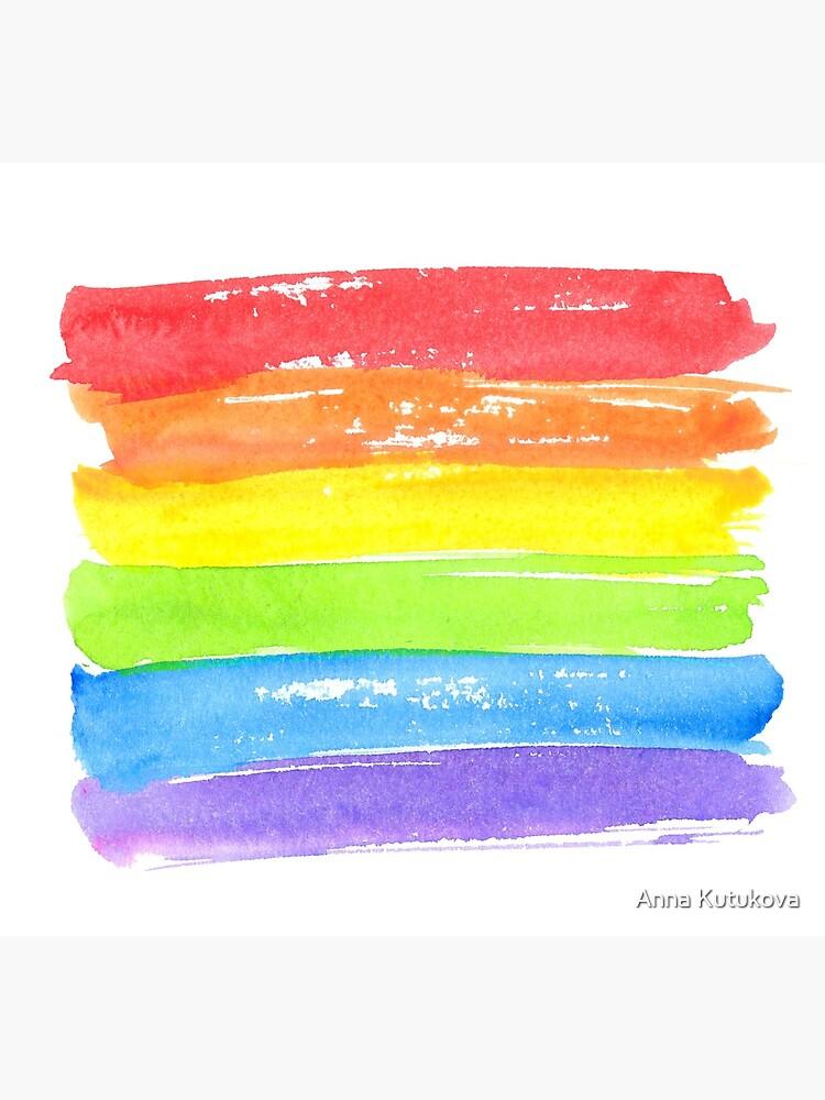 LGBT-Paradeflagge, Symbol des homosexuellen Stolzes von annakutukova