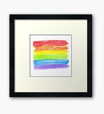 LGBT parade flag, gay pride symbol Framed Print