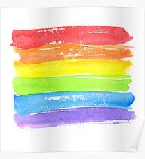 LGBT parade flag, gay pride symbol Poster