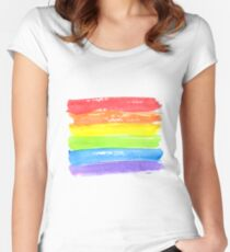 LGBT parade flag, gay pride symbol Fitted Scoop T-Shirt