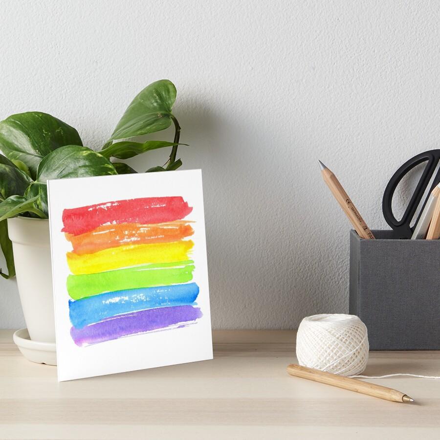 LGBT-Paradeflagge, Symbol des homosexuellen Stolzes von Anna Kutukova