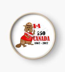 Proudly Canadian Beaver 150 Anniversary Clock