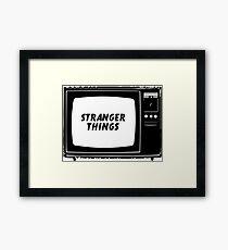Stranger Things Tv Show Framed Print