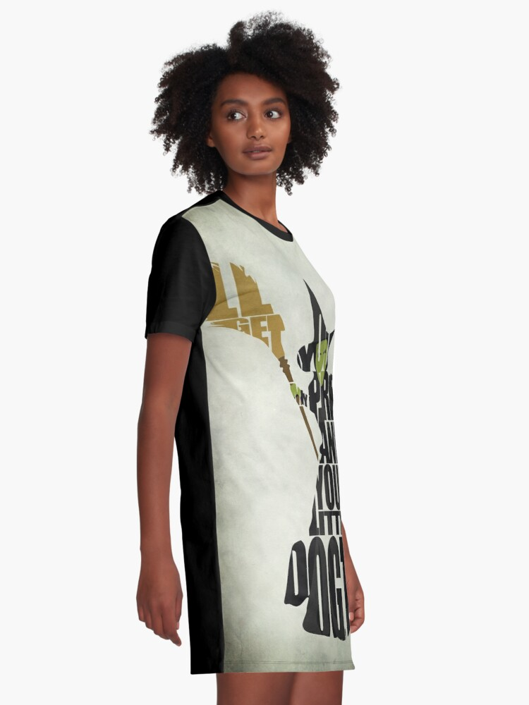 Alternate view of Wicked Witch Of The West Graphic T-Shirt Dress