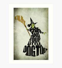 Böse Hexe des Westens Kunstdruck