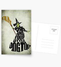 Böse Hexe des Westens Postkarten