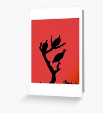A magical vulture sunset Greeting Card