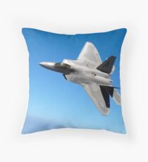 An F/A-22 Raptor banks during a training sortie. Throw Pillow
