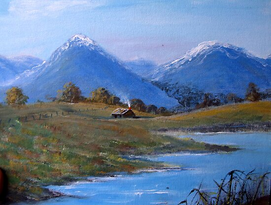 Cold Morning-Painting by SharonD