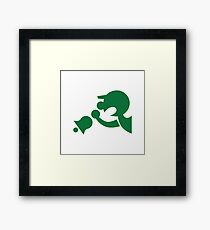 Game & Watch Symbol - Super Smash Bros. (green) Framed Print