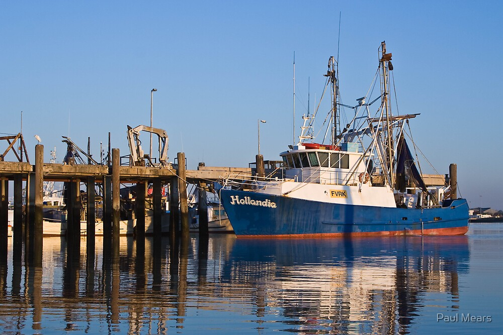 Trawler Basking In Morning Sunshine by Paul Mears