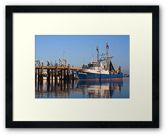 Trawler Basking In Morning Sunshine by Paul Mears