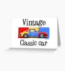 Porsche 911 Vintage classic car Greeting Card