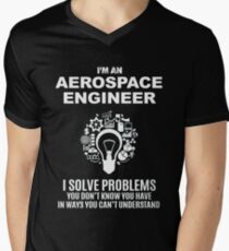 AEROSPACE ENGINEER - SOLVE PROBLEMS WHITE Men's V-Neck T-Shirt