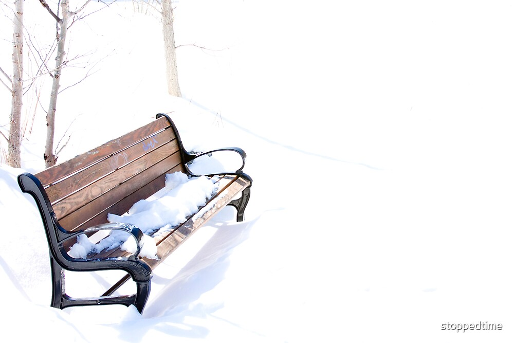 Parkbench in the cold... by stoppedtime