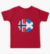 Half Scottish & Half Norwegian DNA Chart Kids Tee