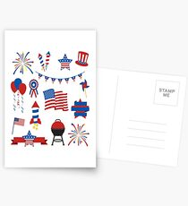 Independence Day t shirt for men,women Postcards