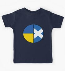 Half Ukrainian & Half Scottish Heritage Chart Kids Tee