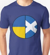 Half Ukrainian & Half Scottish Heritage Chart T-Shirt