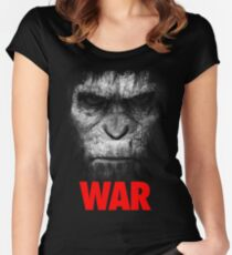Apes War Women's Fitted Scoop T-Shirt