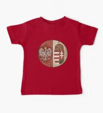 Poland Hungary - New Deluxe Vintage-look Design Baby Tee