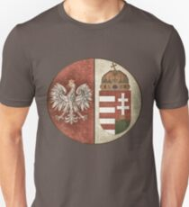 Poland Hungary - New Deluxe Vintage-look Design T-Shirt