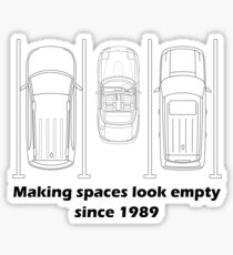 MX-5 making spaces look empty since 1989 Sticker