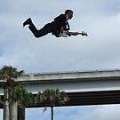 Flying Bass Player by Ben de Putron