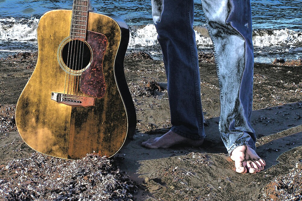 Beach Guitar by sharynpear
