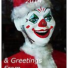 Asbury Park  NJ Clown Christmas Card by schiabor