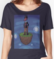 Pixel art octopus on flying island Women's Relaxed Fit T-Shirt