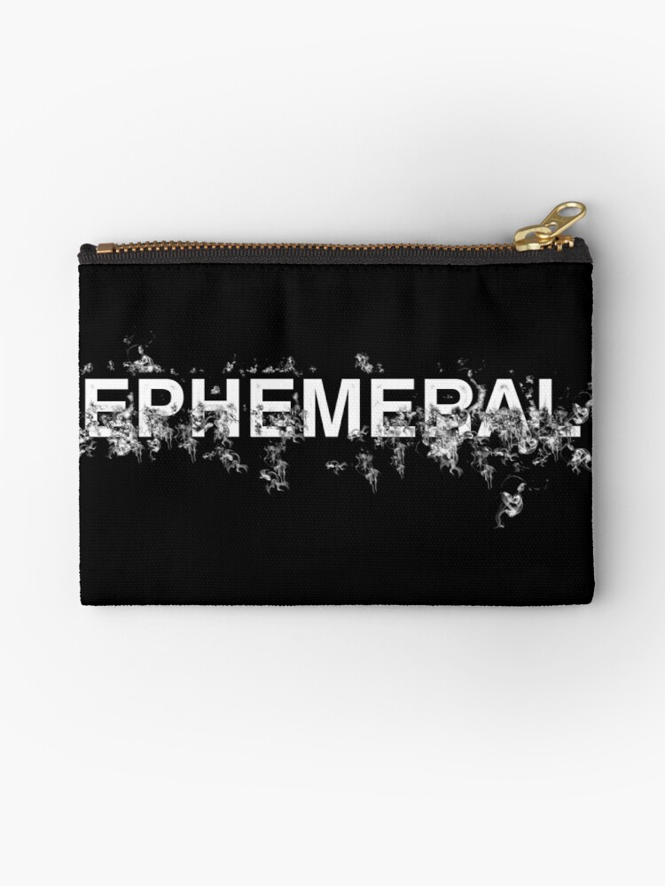 "Word ""Ephemeral"" in a minimal design by Beatrizxe"