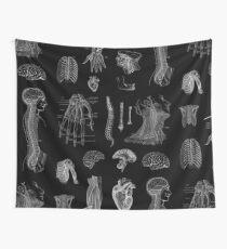 Vintage Anatomy Print  Wall Tapestry