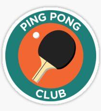 Ping Pong Club Sticker