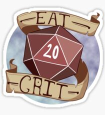 Eat Crit Sticker