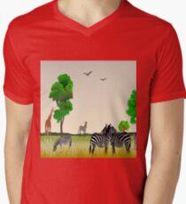 Animal Collage 3 Mens V-Neck T-Shirt