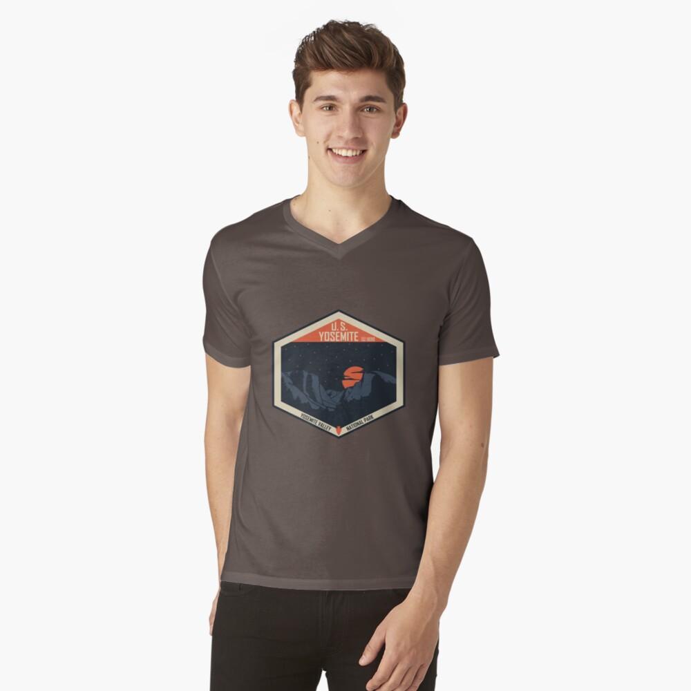 Yosemite Nationalpark T-Shirt mit V-Ausschnitt