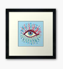 Weird Blue Psychedelic Eye Framed Print