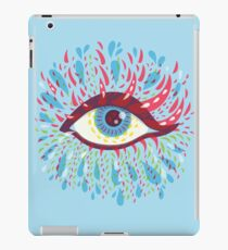 Weird Blue Psychedelic Eye iPad Case/Skin