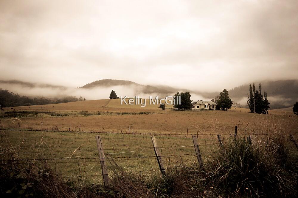 Farm House, Pyengana NE Tasmania by Kelly McGill
