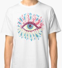 Weird Blue Psychedelic Eye Classic T-Shirt