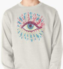 Weird Blue Psychedelic Eye Pullover