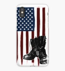 Patriotic American Flag with Boots iPhone Case/Skin