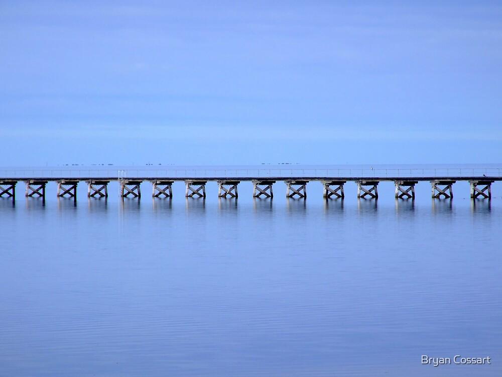 Streaky Bay Wharf by Bryan Cossart