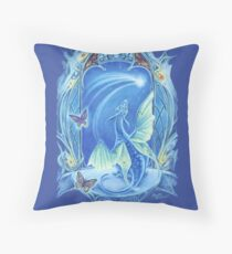 Wishing on a Star baby Dragon fantasy t shirt Throw Pillow