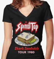 Spinal Tap - Shark Sandwich Tour 1980 Women's Fitted V-Neck T-Shirt