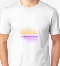 Purple and Orange Lightsabers with Grey and White Hilts Unisex T-Shirt