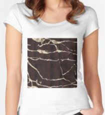 Russet Suede Women's Fitted Scoop T-Shirt